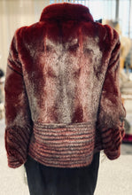 Load image into Gallery viewer, Burgundy Mink Jacket