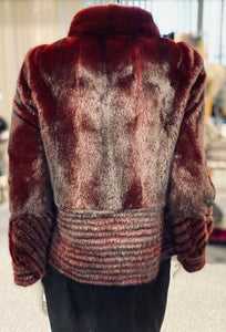 Burgundy Mink Jacket