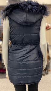 Rabbit Down Vest with Fox