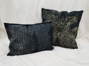 Calfhide Metallic Throw Pillows