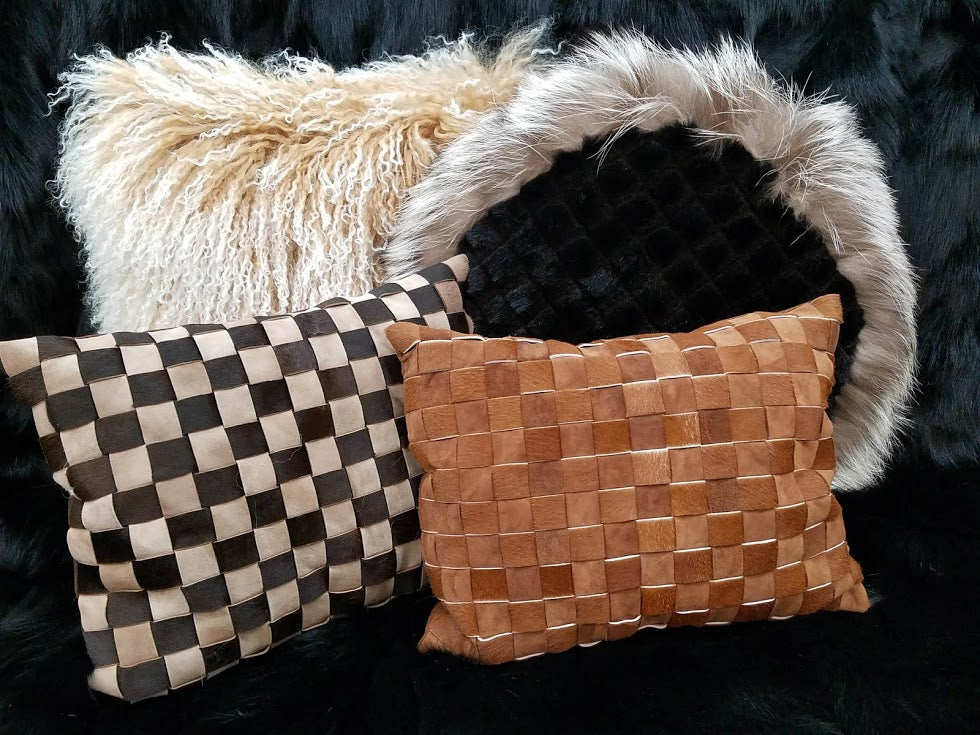 Mink & Fox Fur Pillows and Tibetan Lamb Fur Pillows