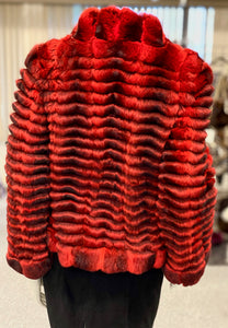 Red Chinchilla Jacket
