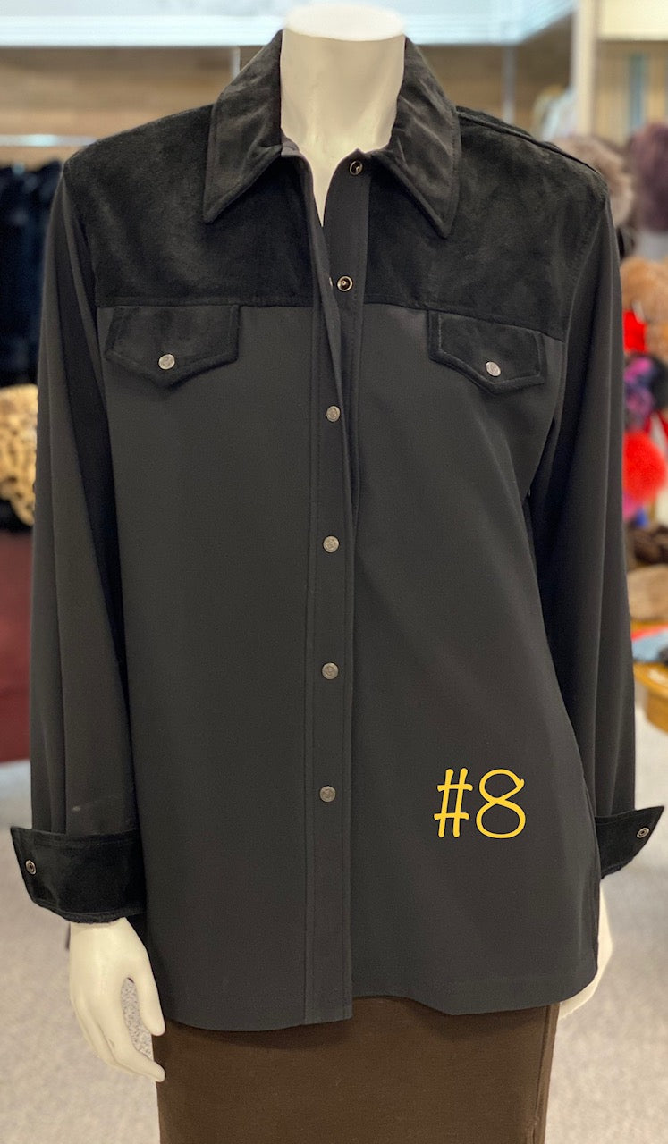 Black Shirt with Stretchable Back