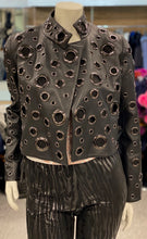 Load image into Gallery viewer, Leather Waist Jacket with Grommets