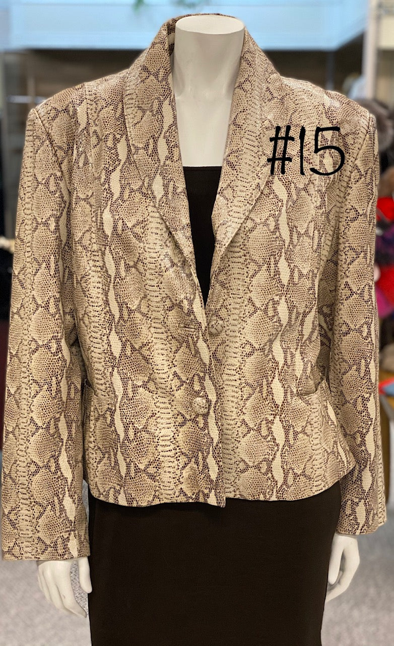 Snake Print Leather Jacket