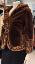 Load image into Gallery viewer, Brown Sheared Mink Stenciled Jacket