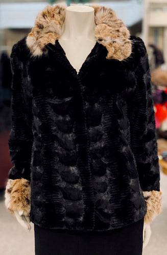 Lasered Mink Lynx Jacket