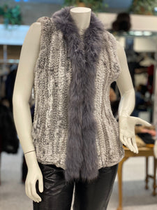 Knitted Rabbit/Raccoon Vest (9007)