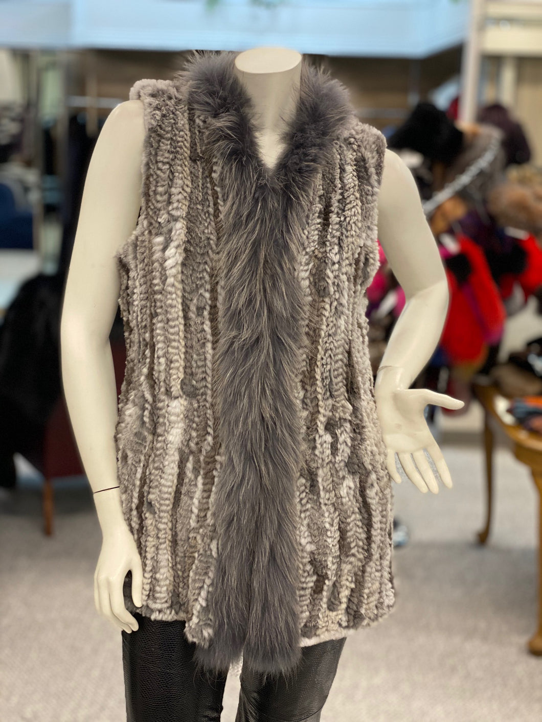 Knitted Rabbit/Raccoon Vest (9007L)
