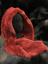 Load image into Gallery viewer, Scarf Cap (rabbit knit hoodie)