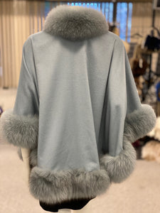 Cashmere Fox Fur Cape