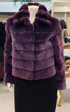Load image into Gallery viewer, Purple Sheared Mink Chinchilla Jacket