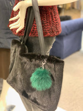 Load image into Gallery viewer, Fox Fur Pom Pom Key Chain