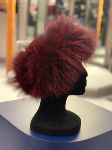 Knitted Fox Fur Headband