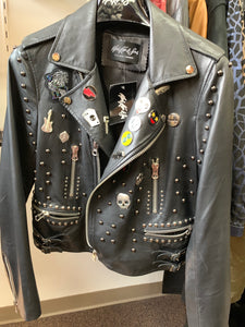 Moto Embellished Leather Jacket