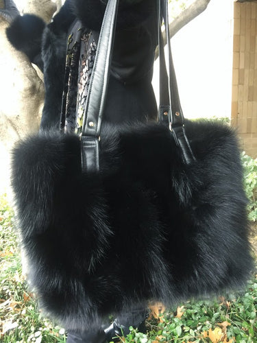 Fox Fur Tote Purse