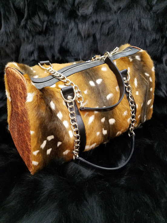 Kidskin Bag Stenciled in Axis Deer