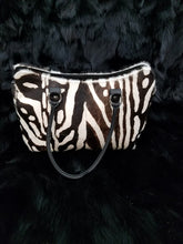 Load image into Gallery viewer, Kid and lambskin Zebra Print Purse