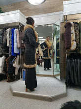 Load image into Gallery viewer, Smocked Leather with Fox Fur Jacket
