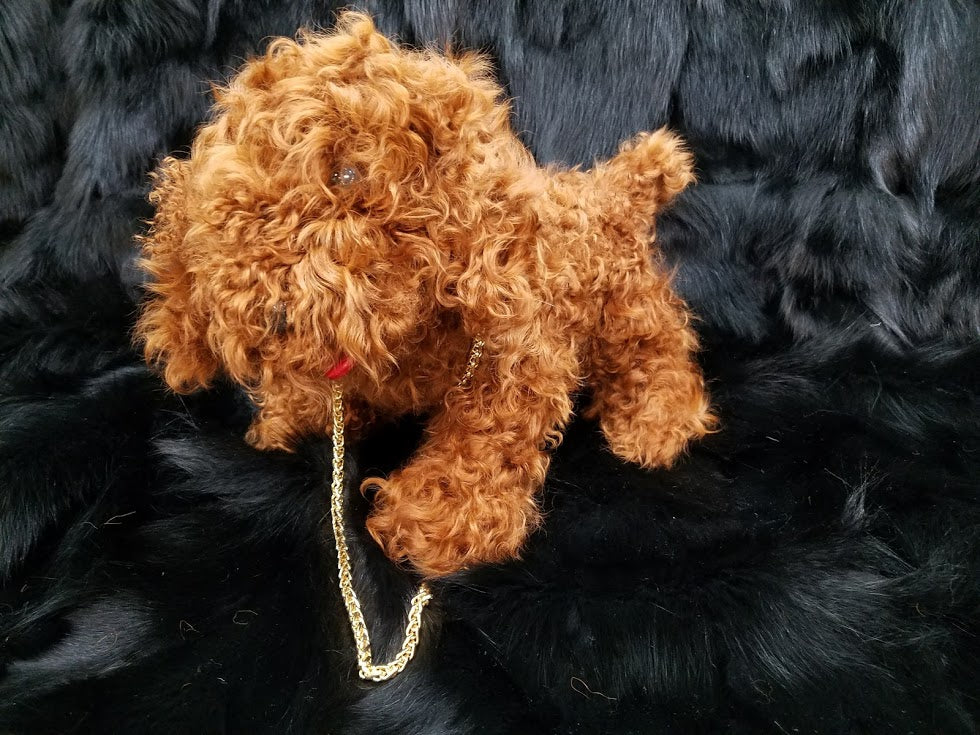Poodle Purses made of Lamb Fur