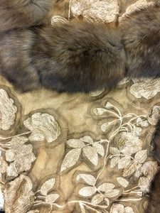 Silk Lace and Raccoon fur Shawl