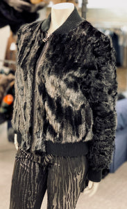 Metallic Mink and Lamb Jacket