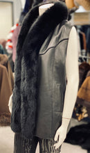 Load image into Gallery viewer, Leather Fox Vest