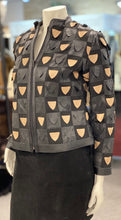 Load image into Gallery viewer, Window Style Taupe and Black Leather Jacket