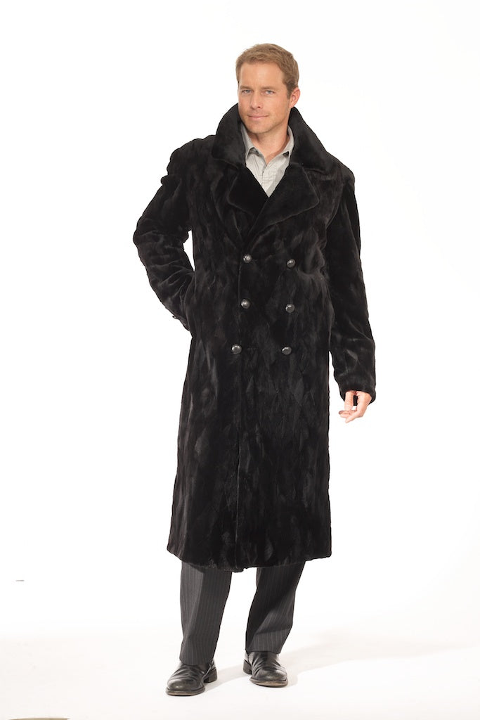 Men's Sheared Full Length Mink Fur Coat