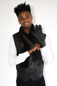 Black Shearling Gloves