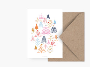 Postkarte / Christmas Forest