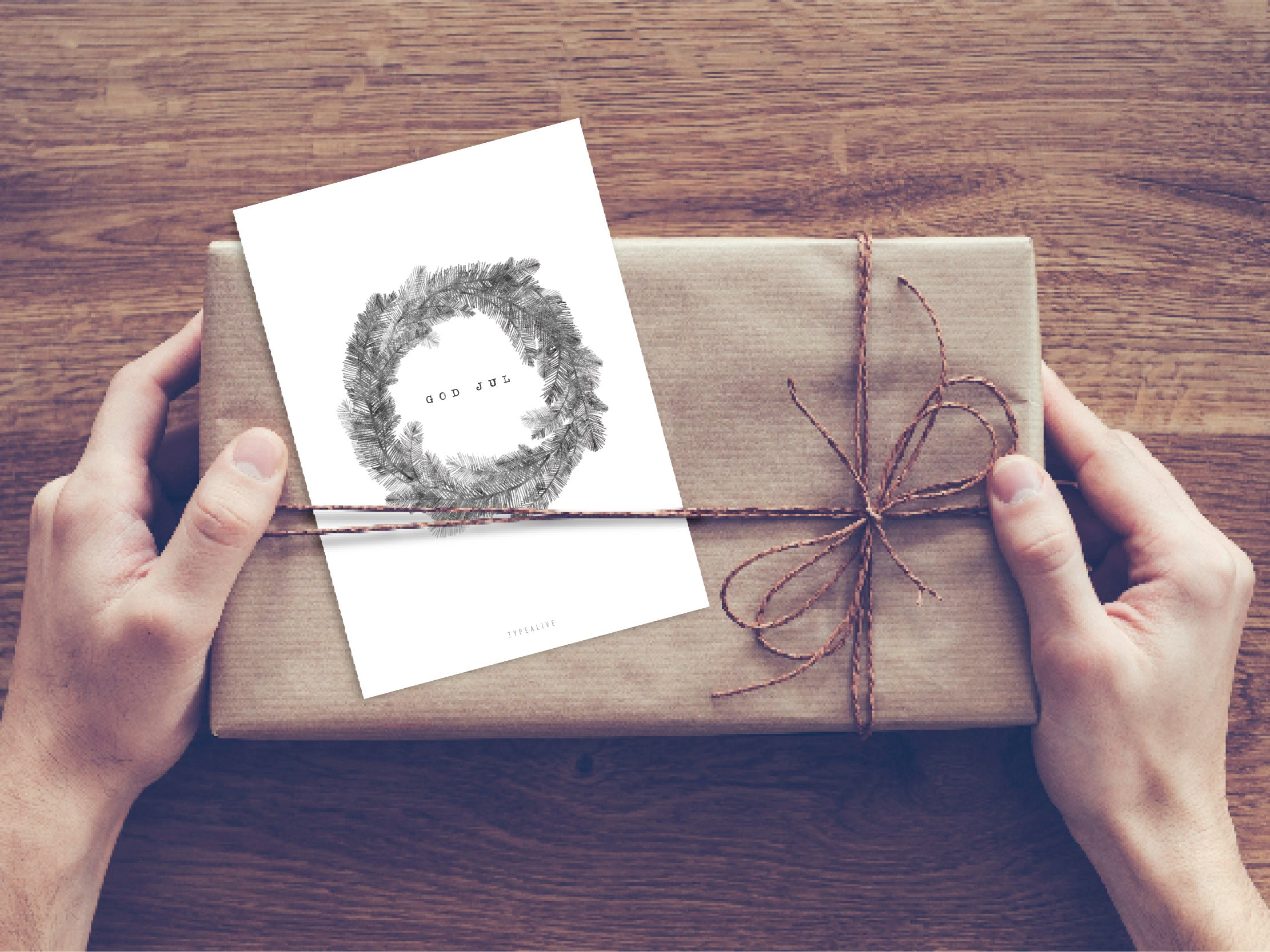 Postkarte / Christmas Wreath