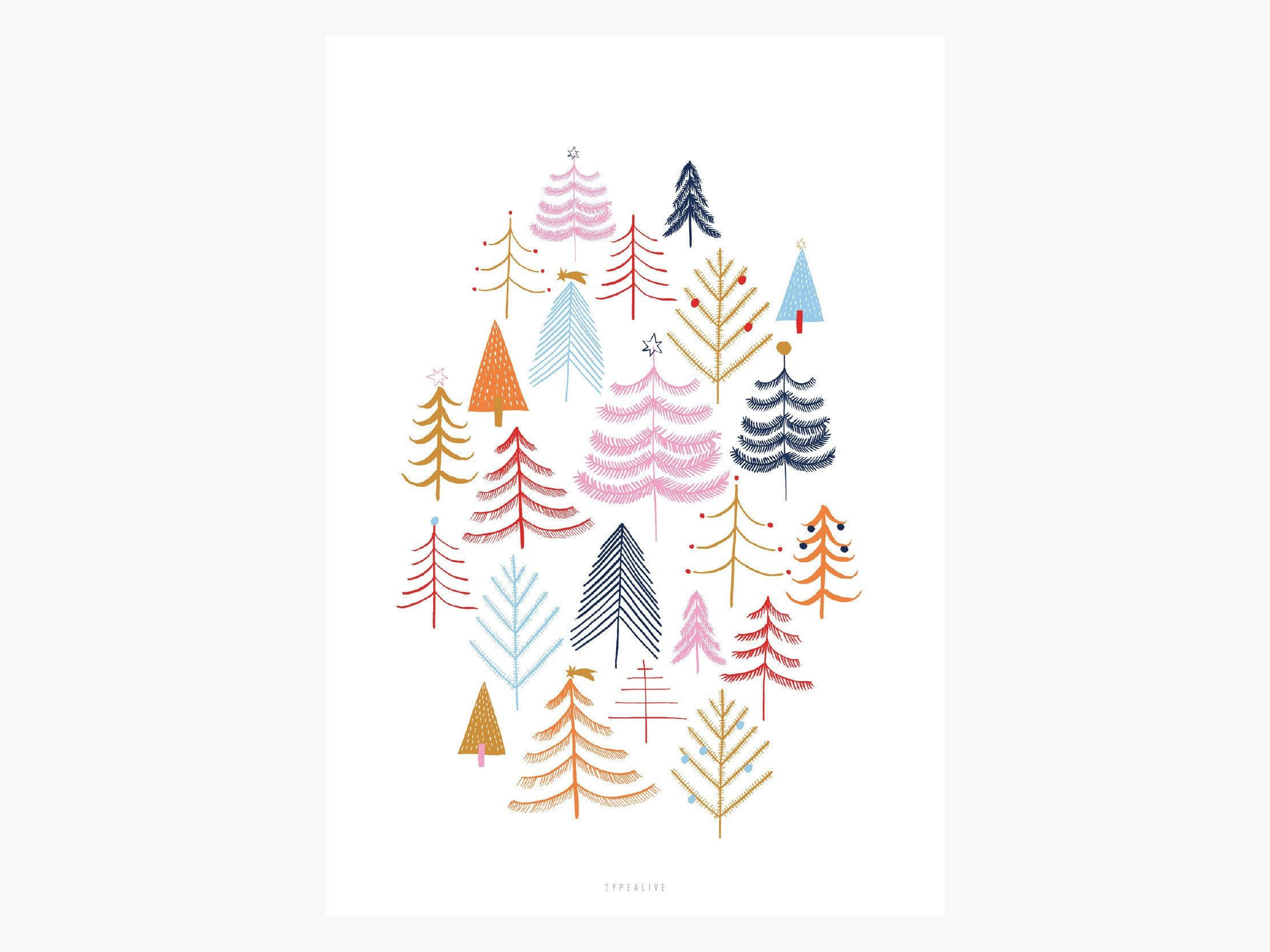 Print / Christmas Forest