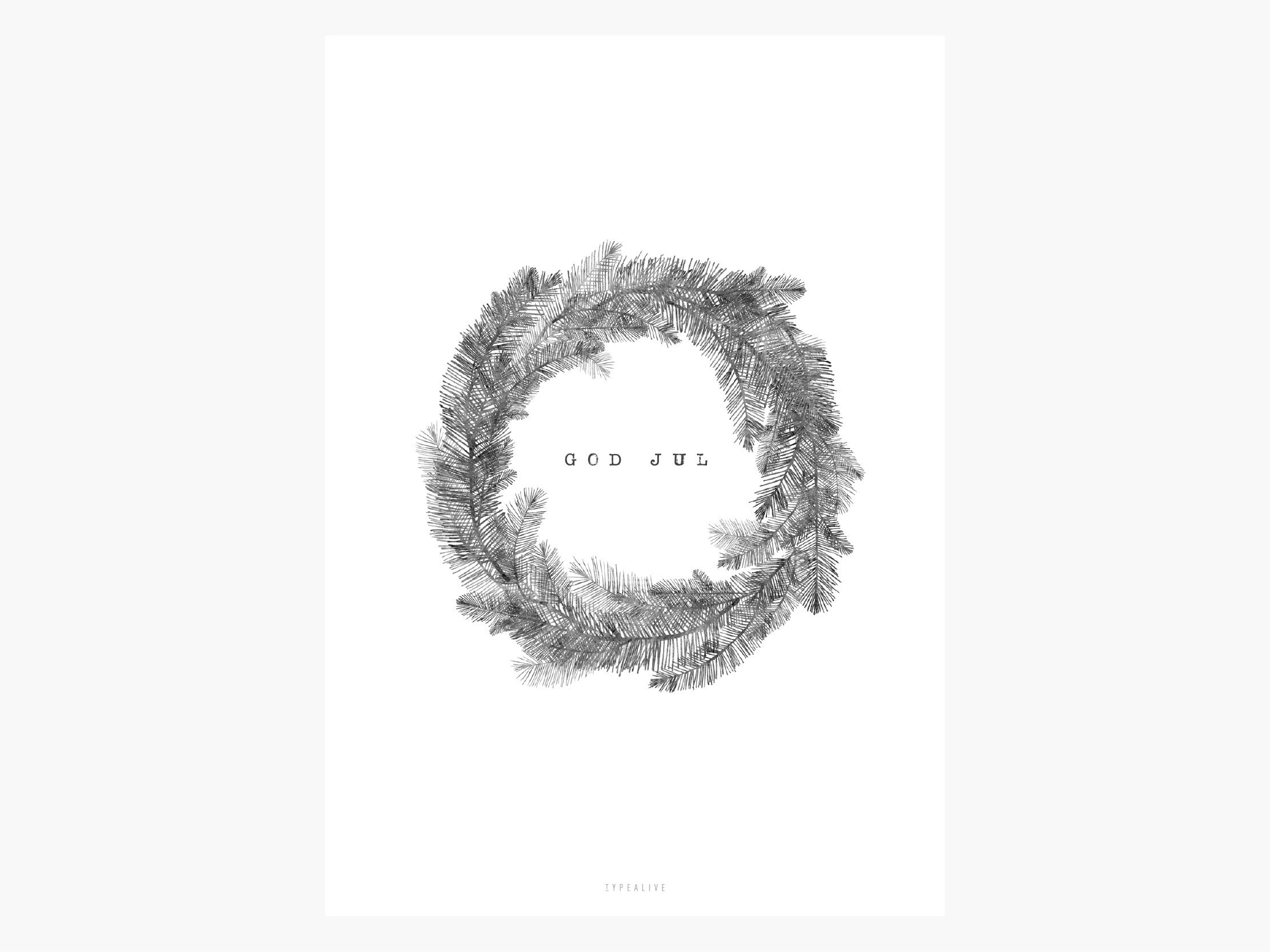 Print / Christmas Wreath