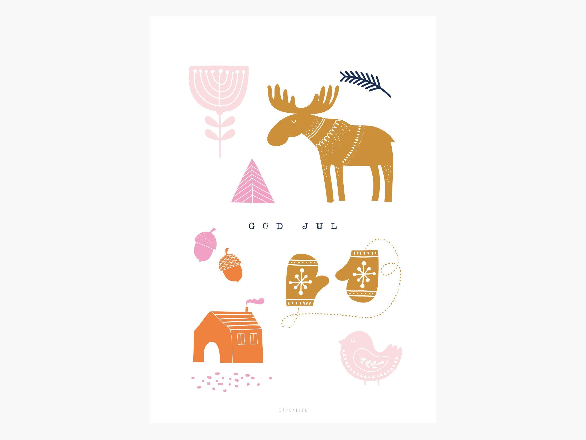 Print / Swedish Christmas No. 1