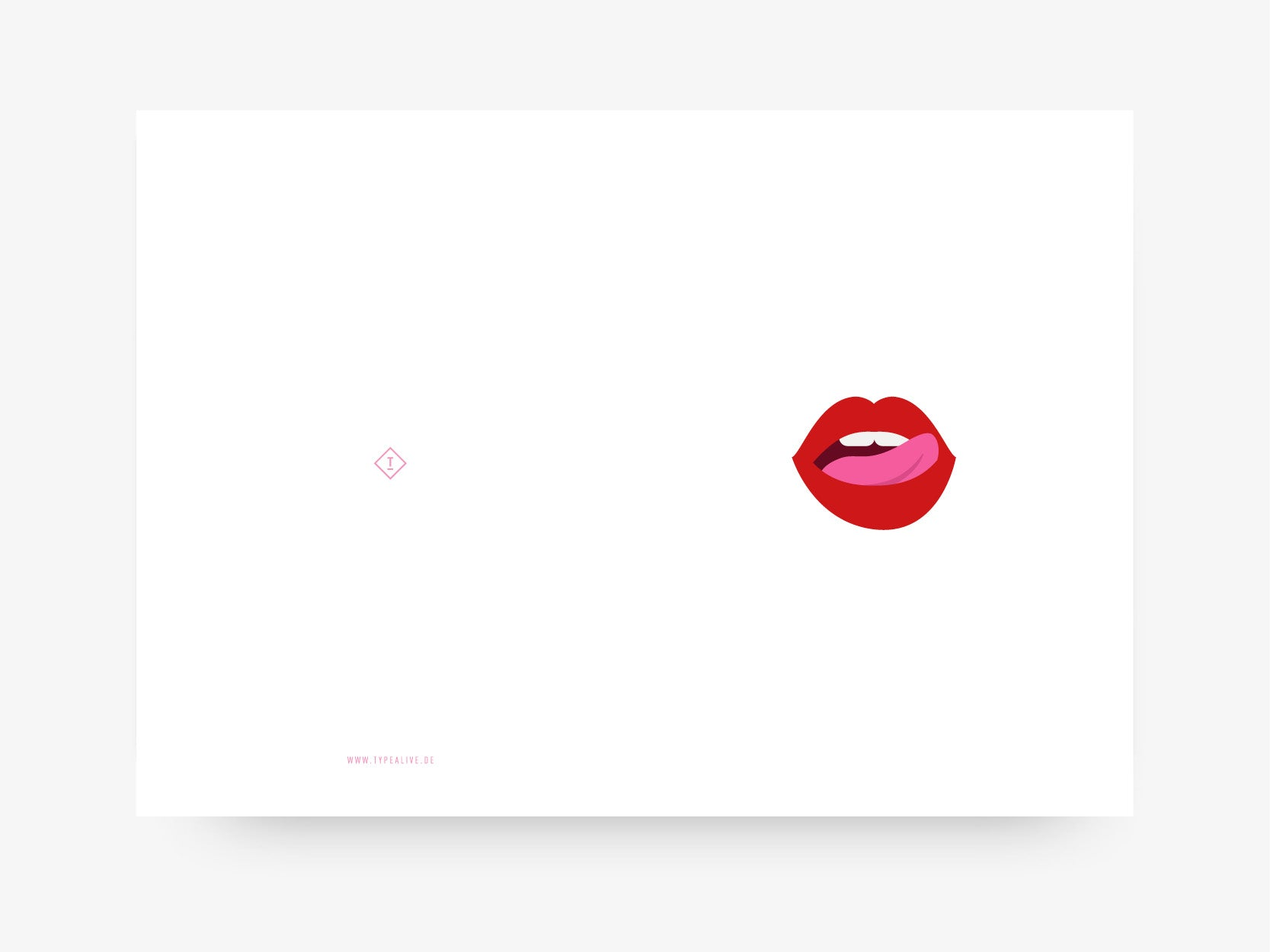 Grußkarte / Lips No. 2