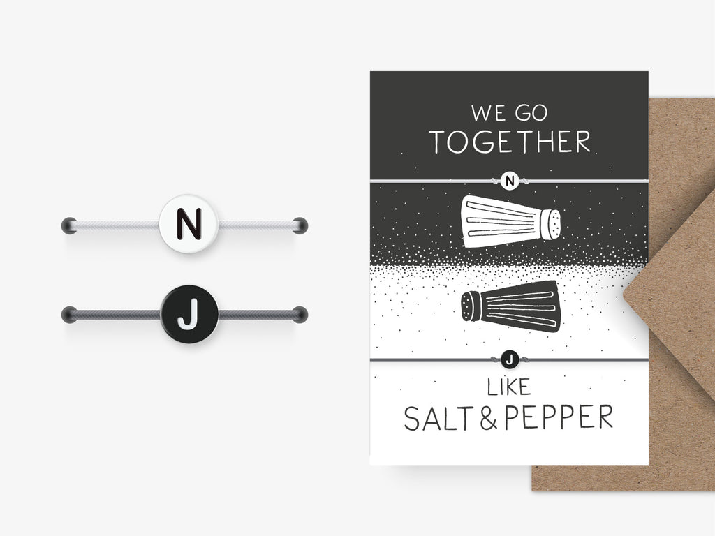Armband / Salt & Pepper + Initialen