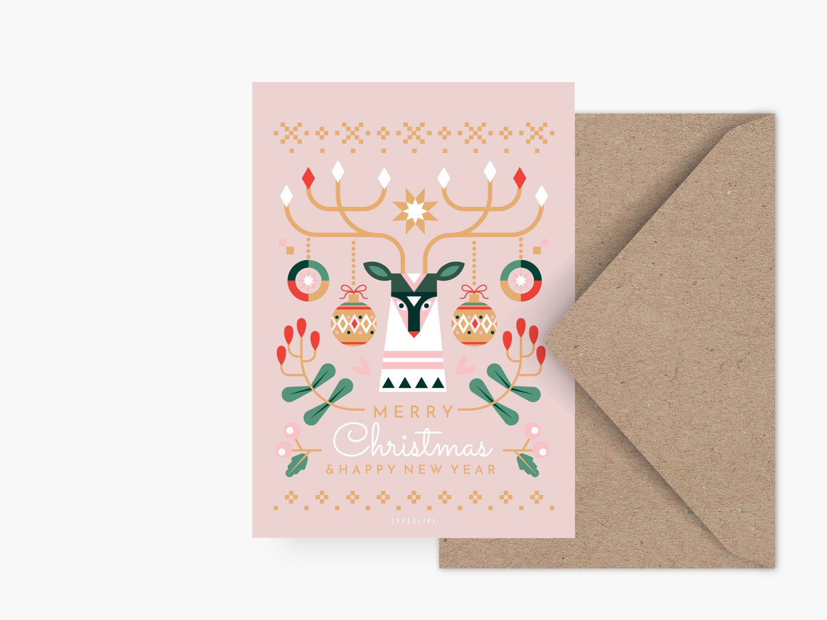 Postkarte / Geometric Christmas No. 1