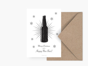 Postkarte / Happy New Beer