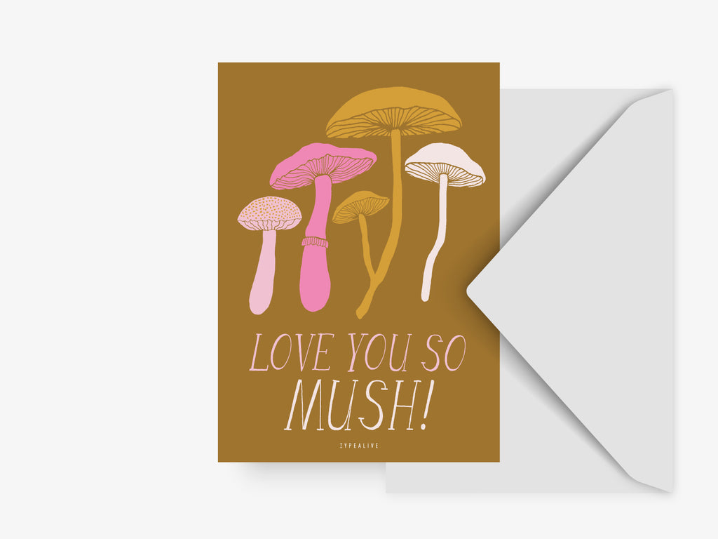 Postkarte / Love You So Mush