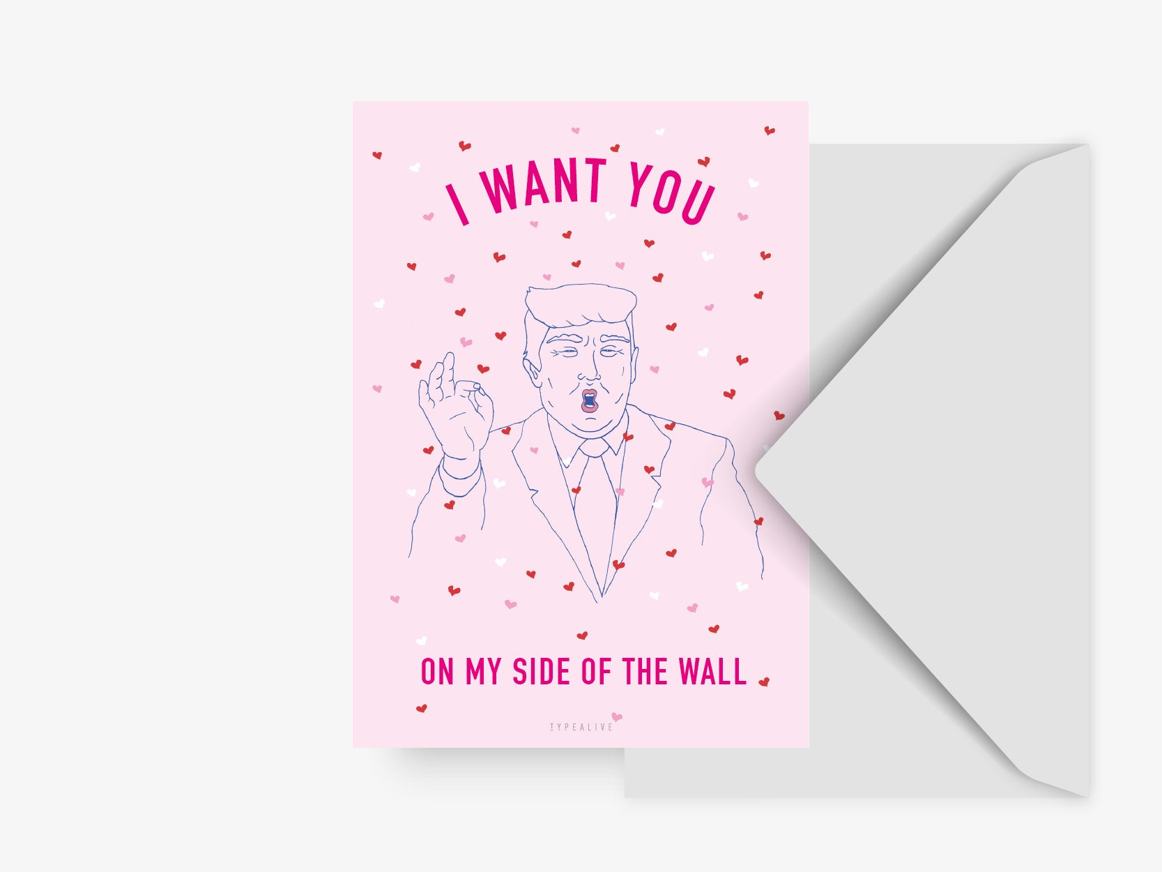 Postkarte / Trump Wants You