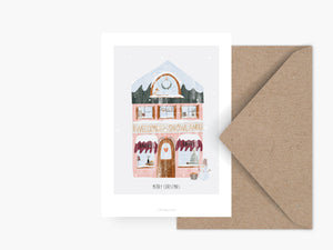 Postkarte / Winter Wonder Shops No. 3