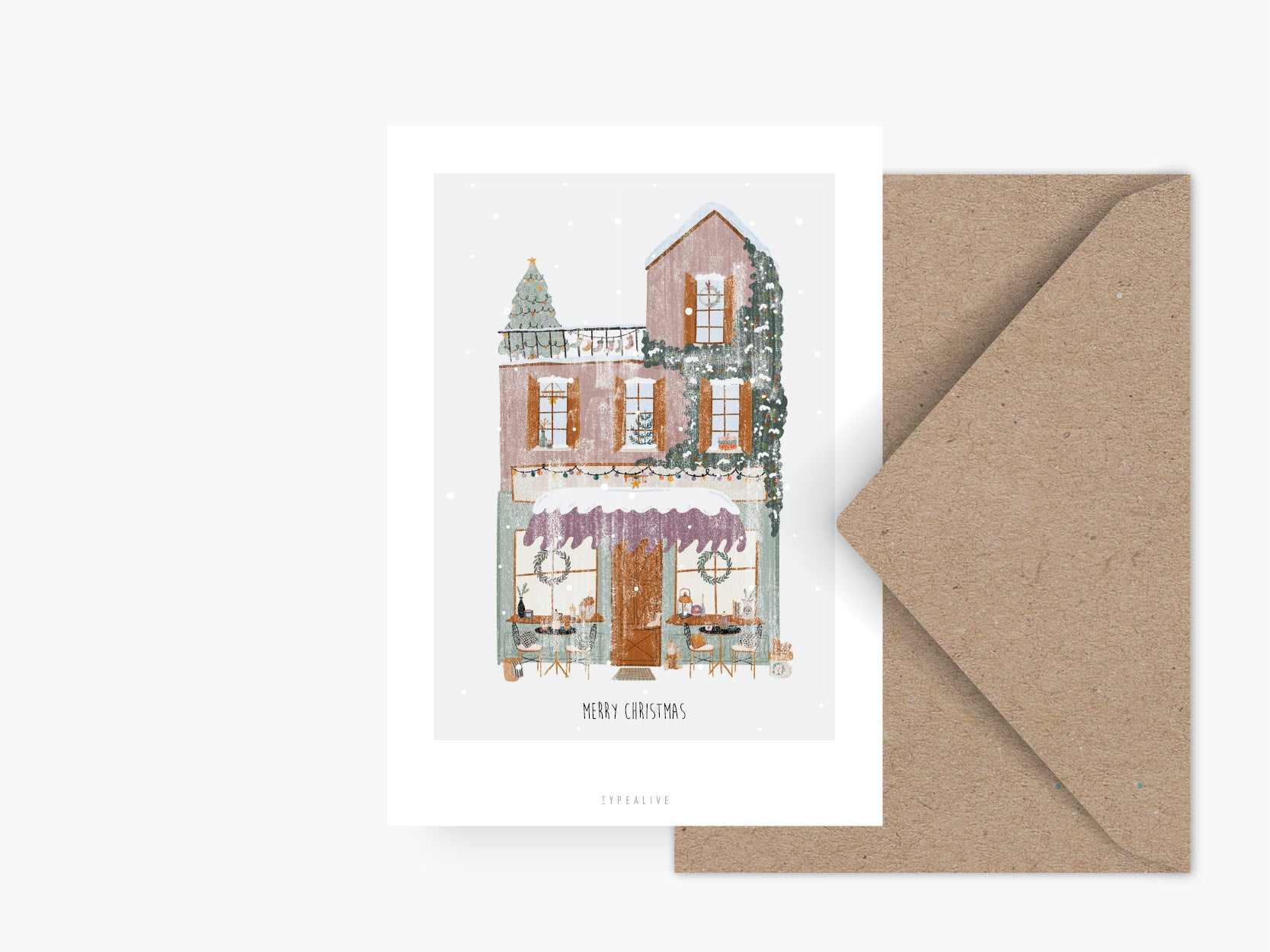 Postkarte / Winter Wonder Shops No. 4