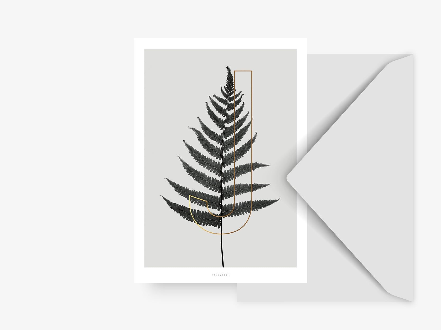 Postkarte / ABC Plants - J