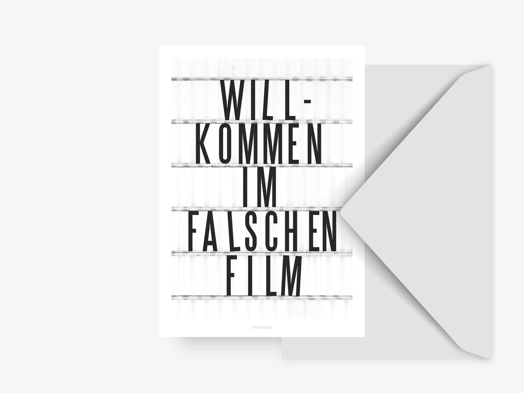 Postkarte / Falscher Film