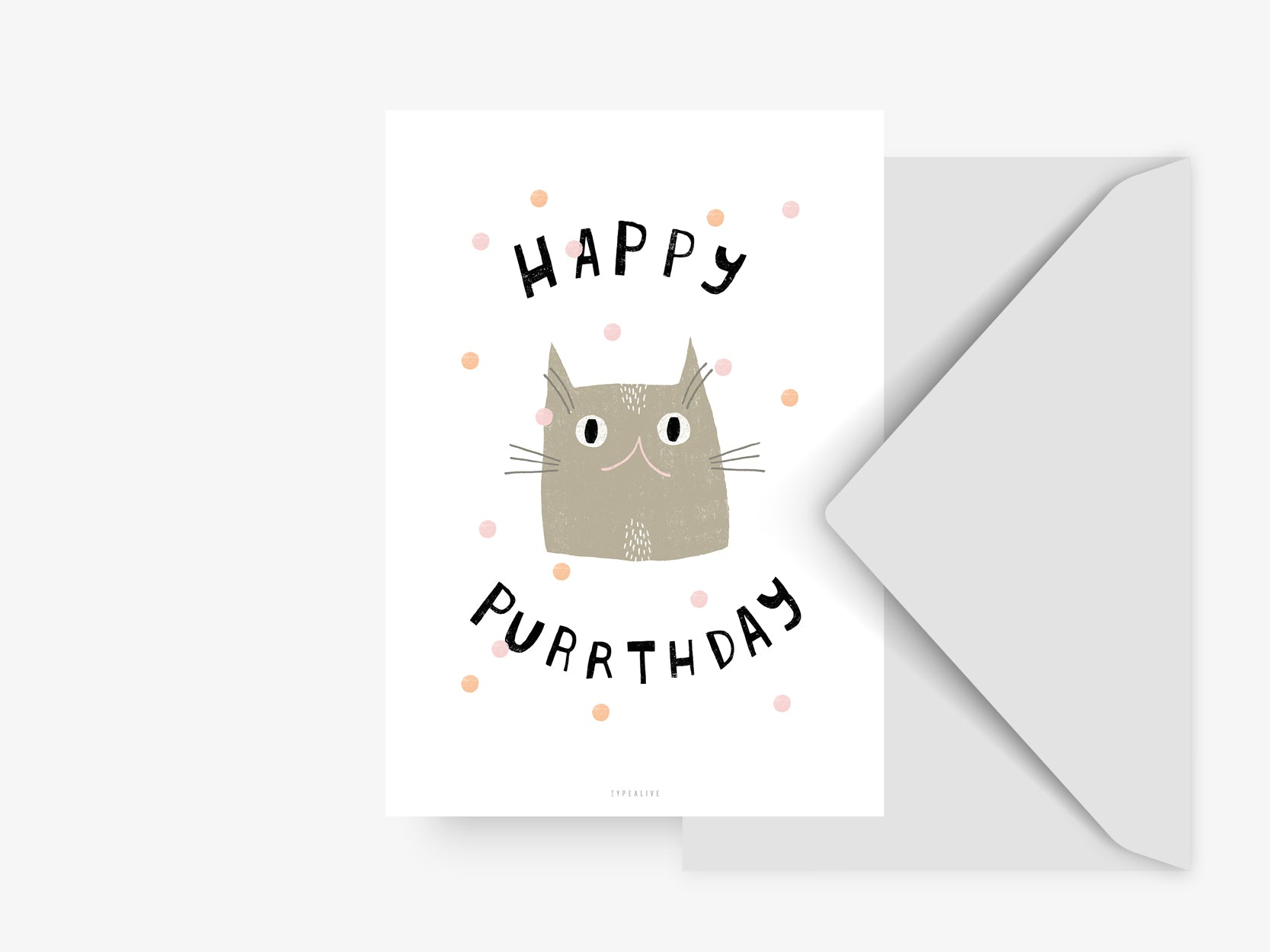 Postkarte / Happy Purrthday