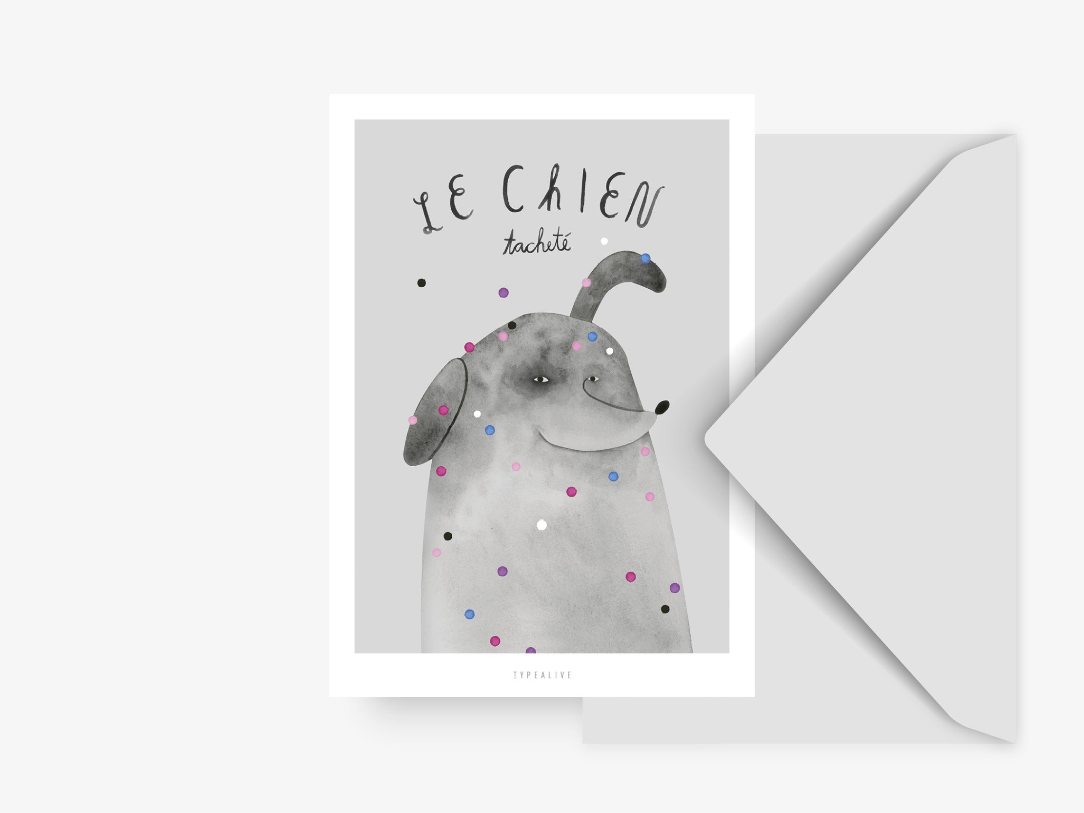 Postkarte / French Animals Chien