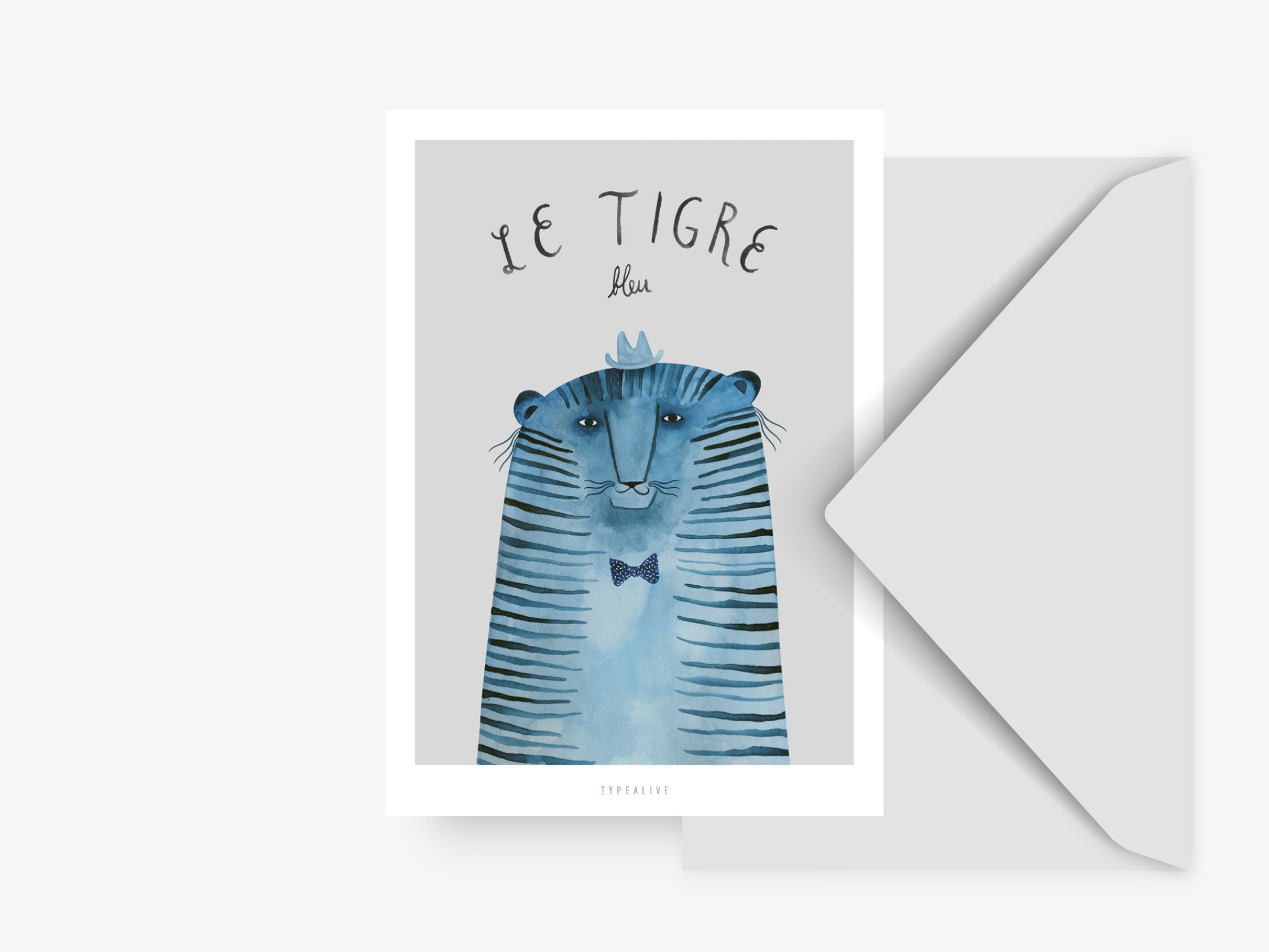 Postkarte / French Animals Tigre