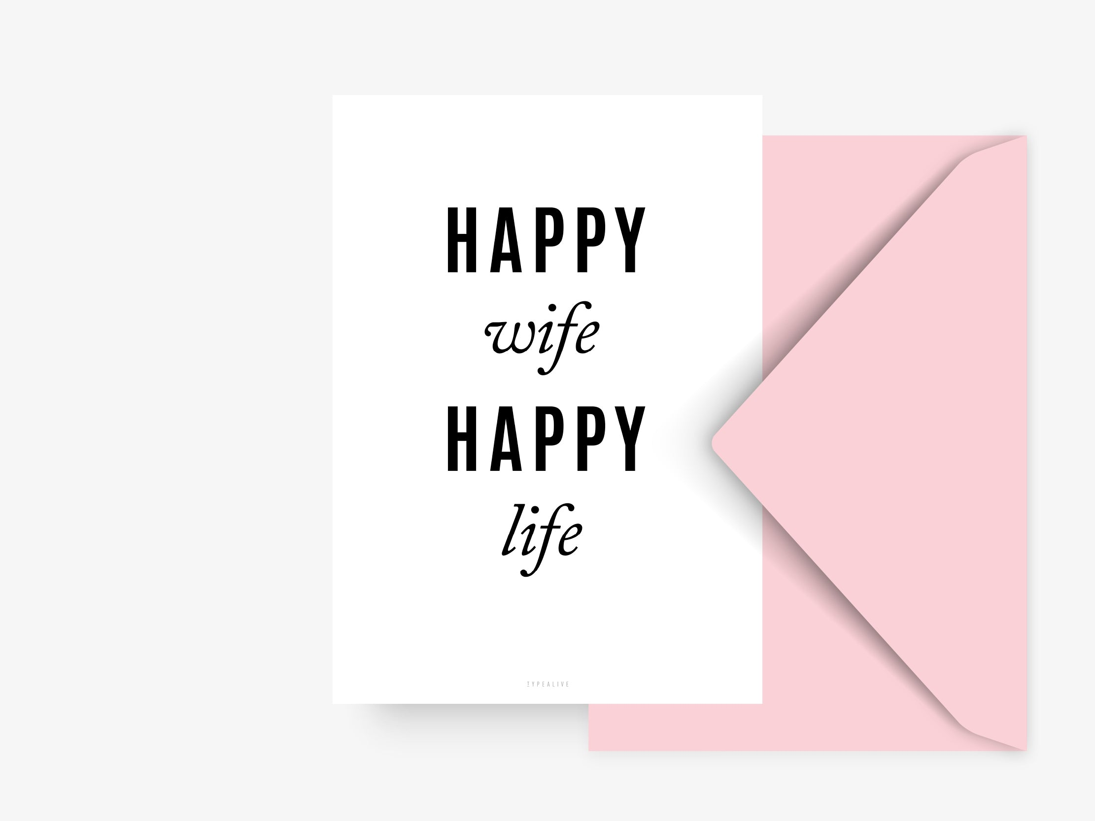 Postkarte / Happy Wife