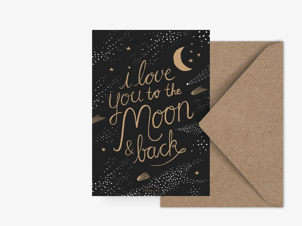 Postkarte / To The Moon